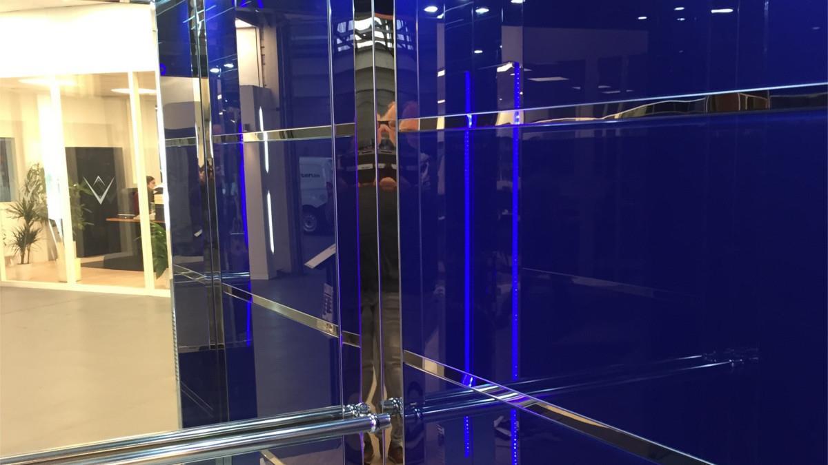 Slide blauwe ledverlichting